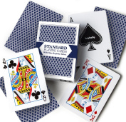 Blue Deck of Pinochle Regular Indexed Playing Cards with Game Instructions by Brybelly
