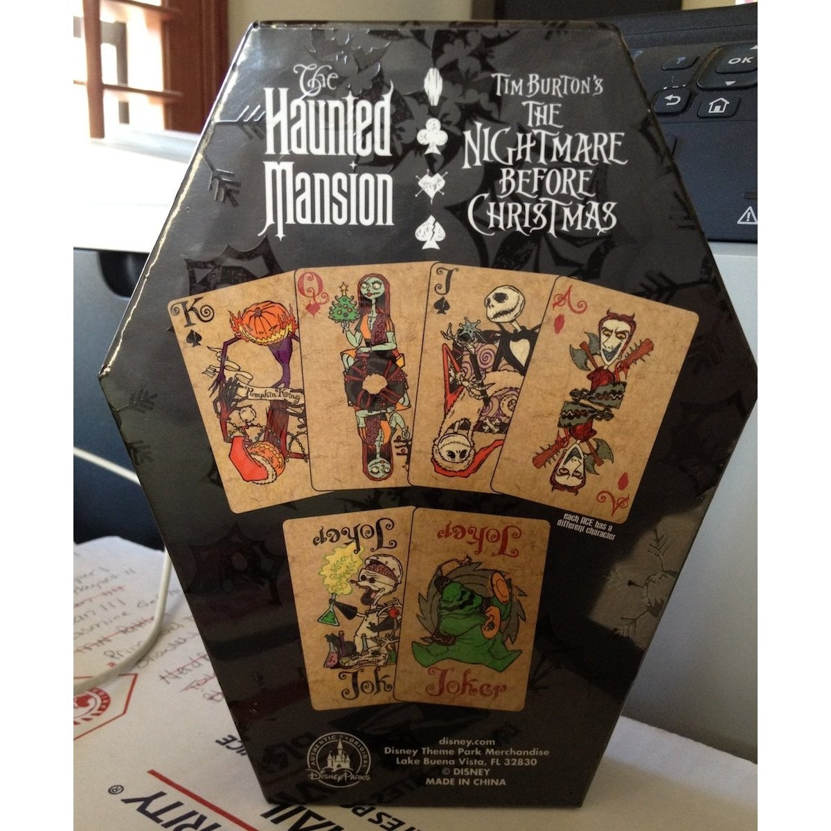Disney Theme Park Exclusive Nightmare Before Christmas Playing Cards ...