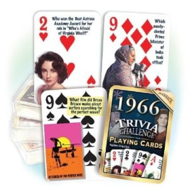 Flickback 1966 Trivia Playing Cards