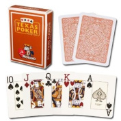 Modiano Texas Poker Hold'em 100% Plastic Playing Cards, Jumbo Index, Poker Wide Size