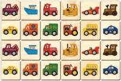 Maple Landmark 50701 Montgomery Schoolhouse - Memory Tiles - Vehicles