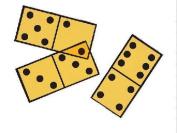 School Smart Overhead Double-Six Dominoes