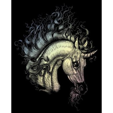 Holographic Engraving Arabian Unicorn