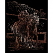 Copper Engraving Horse Race