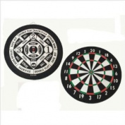 CLASSIC OLD ENGLISH STYLE 46cm DOUBLE SIDED DARTBOARD + 6 BRASS DARTS