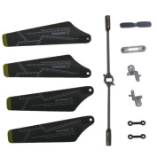 Syma S109G Full Set Replacement Parts, Main Blades, Connect Buckles, Tail Blade,Balance Bar, Spare Main Grips, Main Shaft
