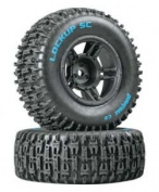 Duratrax Lockup SC Tyre C2 Mounted Black Slash Front