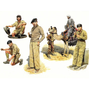 Master Box 1/35 British Troops in Northern Africa, WWII - 6 Figures Set with Camel