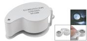 Leegoal 40x Illuminated Whistle Shape Loupe Manifier With LED Light