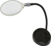 SE 11cm Table Magnifier, 33cm Flexible Neck, Glass Lens