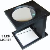 SE Illuminated 3 LED Folding Magnifier ,11cm Dia.