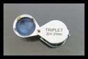 SE 20X, 21mm Triplet Professional Loupes, Chrome