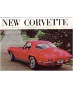 1963 CHEVROLET CORVETTE Sales Brochure Literature Book