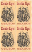 Horatio Alger Set of 4 x 20 Cent US Postage Stamps NEW Scot 2010