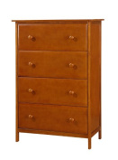 Solid Wood 4 Drawer Chest--Espresso Finish