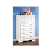 Flora White Finish Chest by Acme Furniture