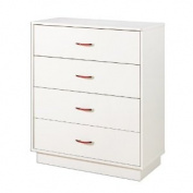 Logik Collection 4 Drawer Chest in Pure White Finish By South Shore Furniture
