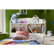 Logik Collection Twin Bookcase Headboard (39) in Pure White Finish By South Shore Furniture