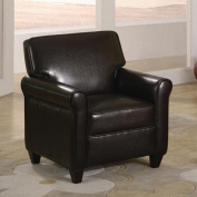 Espresso Kids Chair Seat Childrens Brown Leather - Like