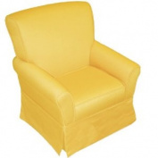 Skyline Furniture Skirted Kid's Arm Chair Upholstered in Sun Yellow Cotton Duck