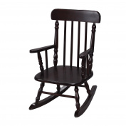 Gift Mark Deluxe Children's Spindle Rocking Chair, Espresso