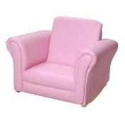 Giftmark 6725BK Black Upholstered Rocking Chair