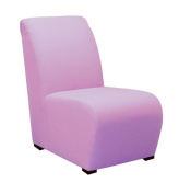 Light Purple Kids Upholstered Armless Chair