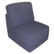 Teen Chair in Navy Micro Suede Pillow