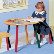 Children's Tables Multi Hardwood, Child Table and Stool Pair Fun Coloured Legs