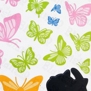 Cat with Butterflies - Wall Decals Stickers Appliques Home Decor