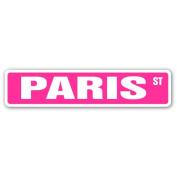 PARIS Street Sign name kids childrens room door bedroom girls boys gift