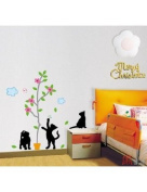 Home Decor Mural Art Wall Paper Stickers - Playing cats KRS-0104