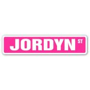 JORDYN Street Sign name kids childrens room door bedroom girls boys gift