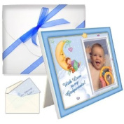 "Baptism Christening Godparents Gifts ""With Love"" Boyl Picture Frame Package"
