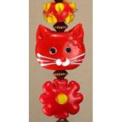 Red Faced Cat Flower Power Ceiling Fan Pull
