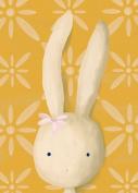 Oopsy daisy Rae The Bunny Stretched Canvas Wall Art by Meghann O'Hara, 25cm by 36cm