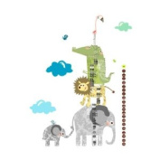 How Tall Am I. Height Chart Pop & Lolli Fabric Wall Decals
