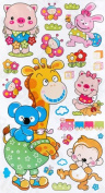 Animal Friends-1 - Wall Decals Stickers Appliques Home Decor