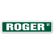 ROGER Street Sign name kids childrens room door bedroom girls boys gift