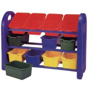 ECR4Kids ELR-0216 3 Tier Toy Storage With 12 Bins in Primary Colours