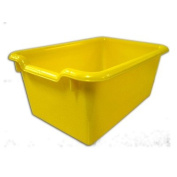 Ecr4kids 10-Pack Scoop Front Storage Bins Yellow