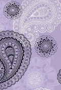 Small Hardbound Notebook - Violet Paisley
