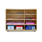 A+ Childsupply 4 Shelf/Cubby unit with Casters