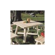 Rustic Natural Cedar Furniture Company® Cedar Log Square Dining Table