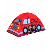 LARGE 170cm colourful INDOOR/OUTDOOR FIRE TRUCK PLAY TENT WITH CARRY BAG