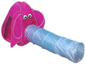 Elephant Animal Tent Play Dome & Kids Tunnel Tube Children Playtent