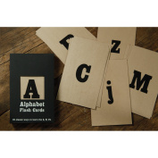 HomArt Alphabet Flash Cards, Deck of 26