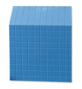 School Smart - Base Ten Components - Plastic Cube 10 x 10 x 10 cm - Each