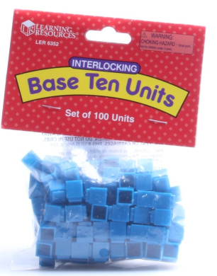 LEARNING RESOURCES INTERLOCKING BASE TEN 100 UNITS - 1