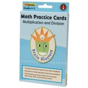 Brain Blasters Math Practise Cards, Multiplication/Division, Grades 4-5